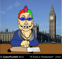A Punk in Parliament an illustration by Cyberpunk65